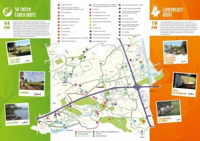 kaart fietslussen