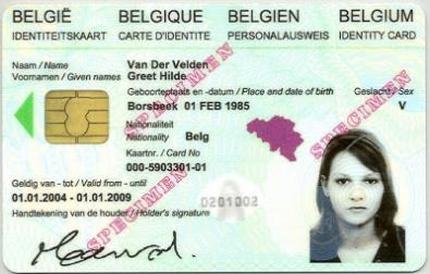 Identiteitskaart - voorbeeld