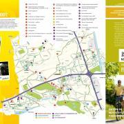 Voorkant fietskaart en erfgoedroute